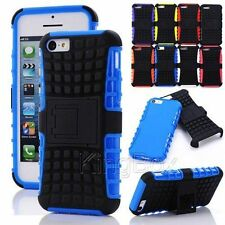 Heavy Duty TPU / Rubber Hard Kickstand Stand Hybrid Case Cover For Apple iPhone