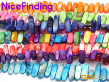 """Freeform Mixed Color Shell Beads For Jewelry Making Loose Beads15"""" 10x20-25mm"""