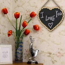 WOODEN MINI KITCHEN MEMO NOTE BOARD MESSAGE CHALKBOARD HOME HANGING DECORATION