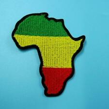 Africa Flag Iron on Sew Patch Cute Applique Badge Embroidered Biker Motor Nature