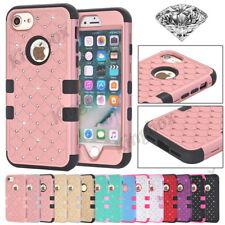 Blingbling Diamond Heavy Duty Hybrid Shockproof Hard Case Cover for iPhone 5 6 7