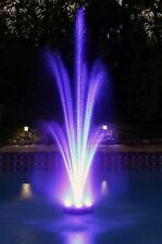 Floating LED Pool Pond Fountain shoots up to 9 ft 2 nozzles HUNDREDS of LEDs