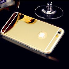 For Apple iPhone 6 6 Plus TPU Luxury Aluminum Ultra-thin Mirror Metal Case Cover