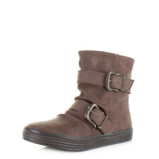 Womens Ladies Blowfish Octave Coffee Texas Flat Casual Ankle Boots Uk Size