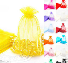 Organza Gift Bags Jewelery Pouches Xmas Wedding Party Candy Favour 12x9cm