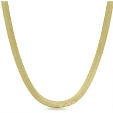 6mm Shiny Gold Plated Herringbone Chain Necklace