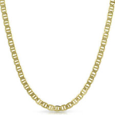 6mm Gold Plated Italian Mariner Mens Chain Necklace
