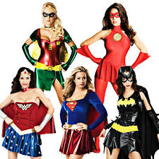 Superhero Costume Ladies Fancy Dress Womens Comic Book Adult Costume