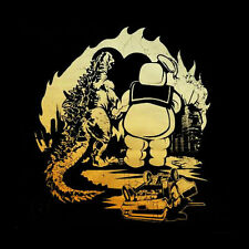Retro GODZILLA & STAY PUFT MARSHMALLOW MAN Parody Shirt, Toddlers & Kids Sizes