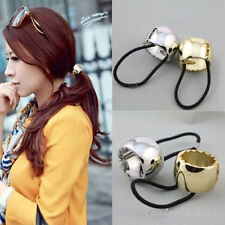 Graceful Women Lady Alloy With Rubber Rope Golden/Silver Plated Hair Rope/Band