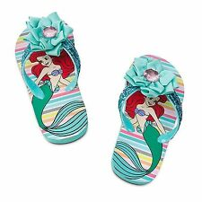 Disney Store Princess Ariel Flip Flops Sandals Shoes Girl 9/10 11/12 13/1 2/3