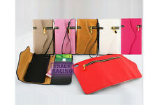 Luxury Card/Coins/Cash Magnet PU Leather Zipper Wallet Pouch Phone Case Cover