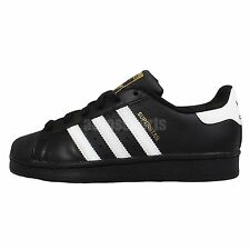 Adidas Originals Superstar Foundation J Black White Youth Womens Casual Shoes