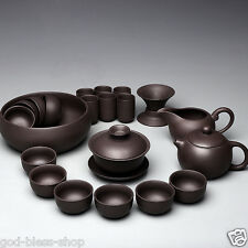 Chinese yixing zisha purple clay tea set real authentic zisha kung fu teapot cup