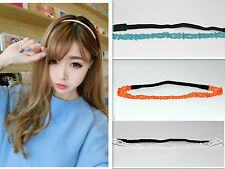 Fashion Women Girl Elastic Thin edge Hair Band Headband