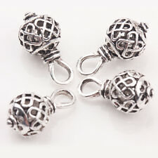 10/20Pcs Tibetan Silver Hollow Out Round Chinese Knots Charm Pendants 20*10mm