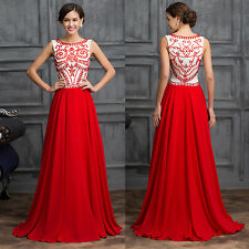 Grace Karin Red PLUS SIZE New Long Bridesmaid Evening Party Ball Gown Prom Dress
