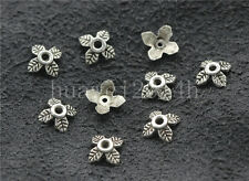 50/200/1000pcs Tibetan Silver Flower Bead Caps Charms Beads Cap Craft DIY 6mm