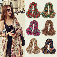 2015 New Vintage Style Women lady Bohemia Totem Flowers Long Scarf Shawl Wrap
