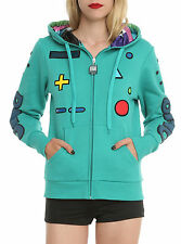 New Hot Topic Adventure Time Hoodie Sweatshirt womens  Small Beemo Cosplay