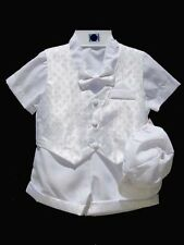 Boys Infant, Toddler Christening Baptism Outfit Set,  White, Size: XS to 4T