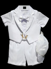 Boys Infant, Toddler Christening Baptism Outfit Set,   White, Size: Small to 4T