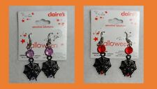 Claire's Boutique Halloween Earrings SPIDER WEB on Hooks Sensitive Solutions NEW