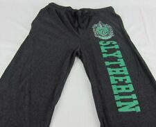 Mens Womens NEW Harry Potter Slytherin Gray Pajama Lounge Pants XS S M L XL 2XL
