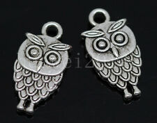 20/60/300pcs Tibetan Silver Lovely owl Alloy Jewelry Charms Pendant DIY 18x9mm