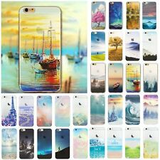 For iPhone 5/5S Ultra Thin Bling Silicone TPU 3D Nature Scenery Cover Case Skin
