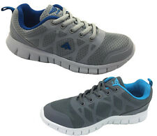 Boys Youth  Shoes Aerosport Laceup Runner Zip Joggers Grey/Blue Size 13-5