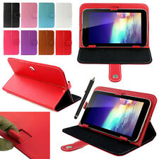 Colorful Magic Leather Case Cover+ Stylus For RCA 7 Inch Android Tablet PC Case