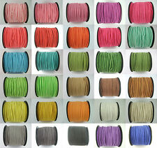 5/100 Yards Korea Faux Suede Cord Flat Leather Cord Bracelet Neckla Rope 2.5mm