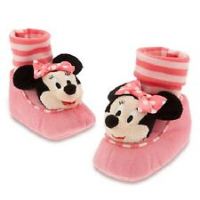 MINNIE MOUSE~Slippers~PLUSH~Costume~Baby~Striped~Infant~0-24M~Disney Store~2015