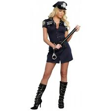 Cop Costume Adult Sexy Police Officer Halloween Fancy Dress