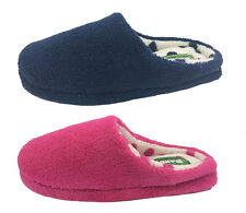 Ladies Slippers Panda Emeline Pink or Navy Slipper Scuff Closed Toe Size 5-10