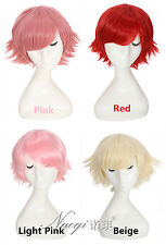 League of Legends Short Cosplay Wigs Straight Synthetic Hair Pink Red