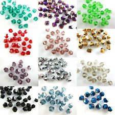 300Pcs Glass Crystal Faceted Bicone Beads Jewelry Findings 4mm Loose Spacer
