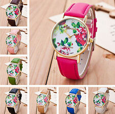 New Geneva Women Watches Flower Fashion Leather Analog Quartz Vogue Wrist Watch