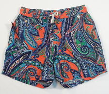 Polo Ralph Lauren Multicolor Paisley Brief Lined Swim Trunks Mens NWT
