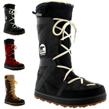 Womens Sorel Glacy Explorer Fur Lined Winter Snow Rain Waterproof Boots US 5-11