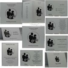Personalised Portrait Design White Wedding Invites With Matching Stationery