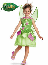 NEW Disney Tinkerbell Fairies Deluxe Costume Dress Up Fairy Princess Pixie wings
