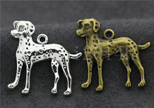 5/20/100pcs Antique Silver Lovely Dalmatians Jewelry Charms Pendant DIY 29x29mm