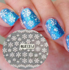 Christmas Theam 3D Nail Art Stickers Snowflake Manicure Stickers Decals