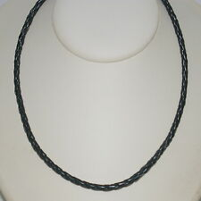 6 pcs LOTS 4mm Black Braided Leather Cord Silver Clasps Bracelet Anklet Necklace