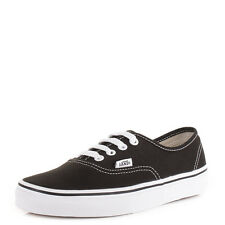 Womens Vans Authentic Black White Lace Up Casual Skate Shoes Trainers Uk Size