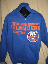 NHL New York Islanders Hockey Full Zip Hooded Sweatshirt Jacket Hoody Mens Sizes