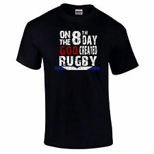 On The 8th Day God Created Rugby Scotland Rugby Gift T-Shirts up to 5XL