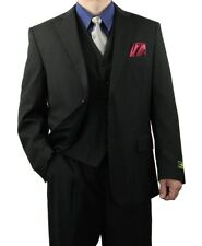 Promotion! Sharp 3pc Men 2B. Dress Suit Expendable Waist Black 36S-48L tb31